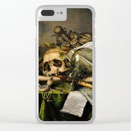 Vintage Vanitas- Still Life with Skull Clear iPhone Case