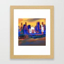 WANDERING, NOT LOST #original art #city art Framed Art Print