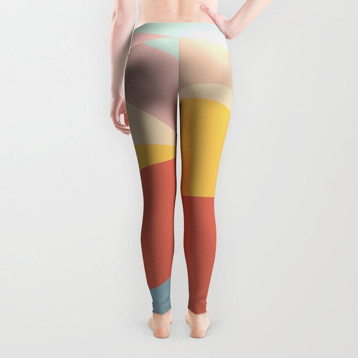 Retro Abstract Geometric Leggings