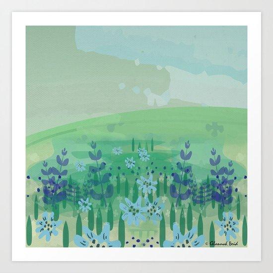 Wild Flowers. Art Print