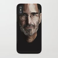 steve jobs iPhone & iPod Cases featuring Steve Jobs by Misha Libertee