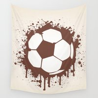soccer Wall Tapestries featuring Soccer Ball by Emir Simsek