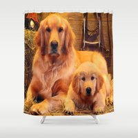 mom Shower Curtains featuring Mom by Robin Curtiss