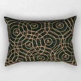 Random Rings Rose Gold Rectangular Pillow
