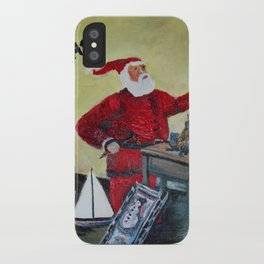 Santa in his Workshop iPhone Case
