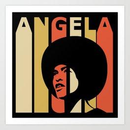 Angela Davis Retro Homage Art Print