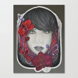 The Red in Orchids  Canvas Print