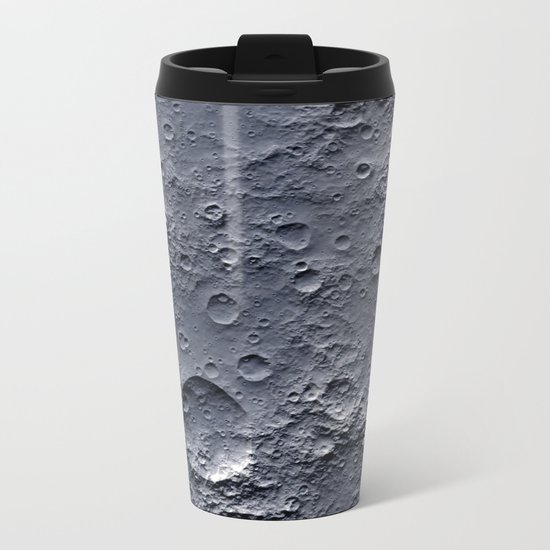 Moon Surface Metal Travel Mug