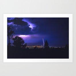 California Lightning Storm Art Print