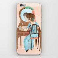 jane austen iPhone & iPod Skins featuring Jane Austen by Irena Freitas