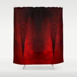 Devil Woman Pentagram Shower Curtain
