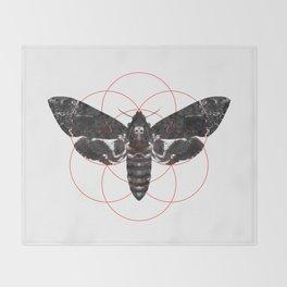 Sacred Death's-head Hawkmoth Throw Blanket