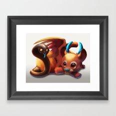 Baby Chimera Framed Art Print