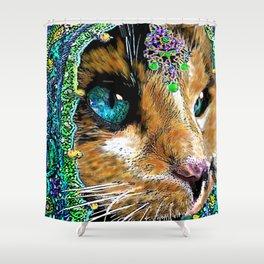 Calico Indian Bride - Cats Feline Catitude Shower Curtain