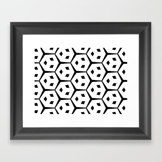 Van Trijp Black & White Pattern Framed Art Print