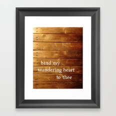 Binding Framed Art Print