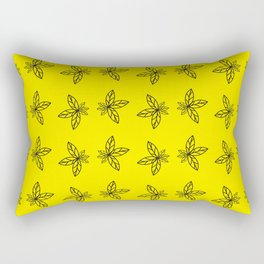 Nature Abstract Yellow Pattern Rectangular Pillow