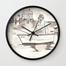 Gone Fishin' 2 Wall Clock