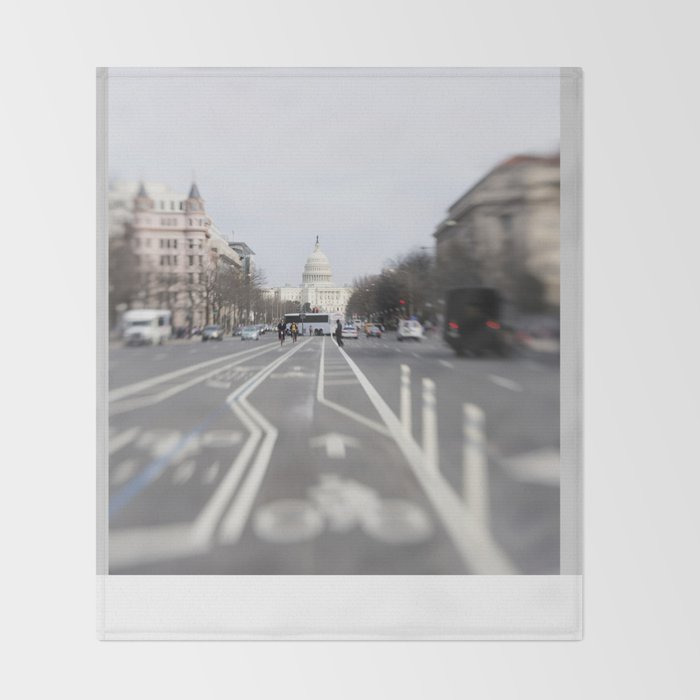 In the Streets of DC Throw Blanket