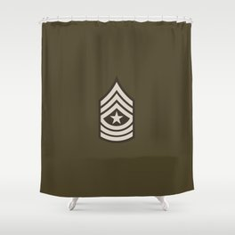 Sergeant Major (Brown) Shower Curtain