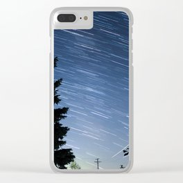 Milky Way - Star Trail Clear iPhone Case