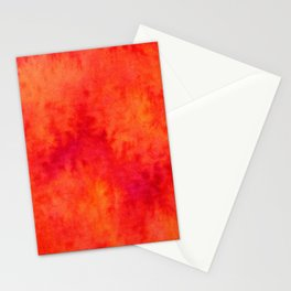 Sunset Blush Red Stationery Cards
