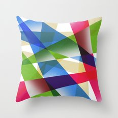 Geometric Fractal Prism Throw Pillow