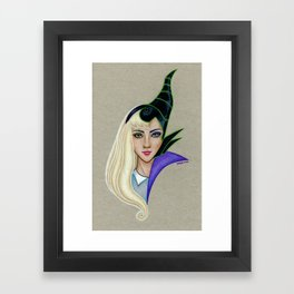 Aurora vs Maleficent Framed Art Print