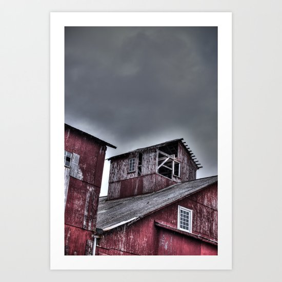 Red Mill Art Print