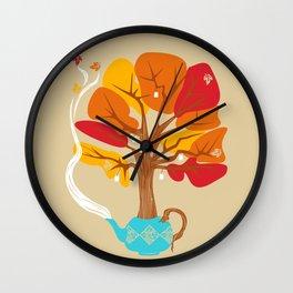 Tea Leaves Wall Clock
