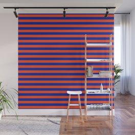 Florida Team Colors Stripes Wall Mural