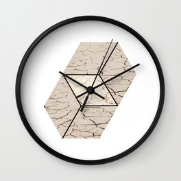 Earth hexagon abstract - Earth sign - The Five Elements Wall Clock