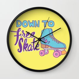 Down to Free Skate Wall Clock