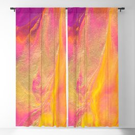 Dripping in Gold Abstract Painting Blackout Curtain