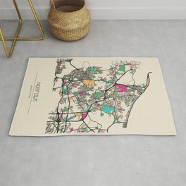 Colorful City Maps: Norfolk, Virginia Rug