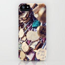 Paris Love Locks iPhone Case
