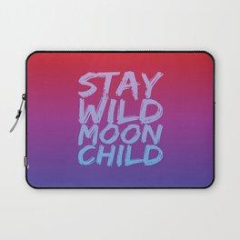 STAY WILD MOON CHILD (Crimson Purple) Laptop Sleeve