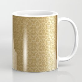 Swirly Black and Gold Damask Pattern Coffee Mug