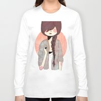 nan lawson Long Sleeve T-shirts featuring Some Fashion by Nan Lawson