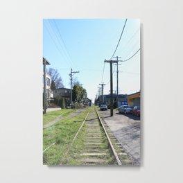 Train tracks near Arbutus Metal Print