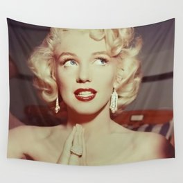On a Hope and a Prayer, Blond Marilyn Hollywood portrait photograph Wall Tapestry