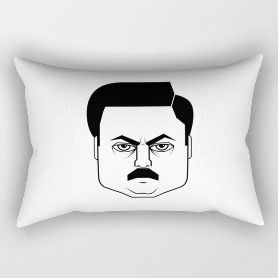 Ron Swanson Rectangular Pillow