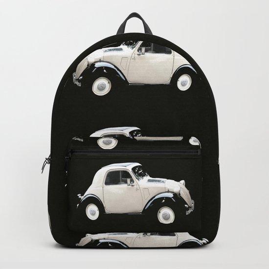Fiat 500 Toppolino - italian vintage automobile - #society6 #buyart Backpack