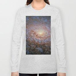 Galaxy Messier 63 Deep Field Telescopic Photograph Long Sleeve T-shirt