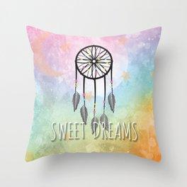 Sweet Dreams Dreamcatcher Throw Pillow