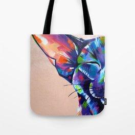 Sunbathing - Oriental Cat Painting Tote Bag