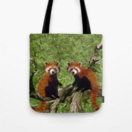 Frolicking Red Pandas Tote Bag