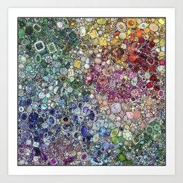 Diamonds, Jewels, (Gems & The Hologram) Art Print