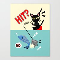 fishing Canvas Prints featuring Fishing by BATKEI