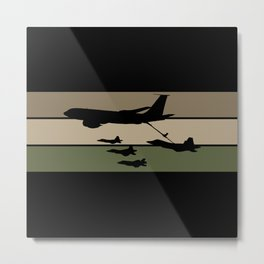 In-Flight Refueling Metal Print